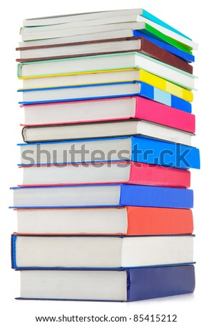 books isolated on white background - stock photo