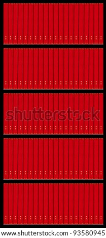 books on the shelf - duplicate vertical and horizontal - stock photo