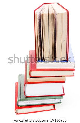 BOOKS On WhitE - stock photo