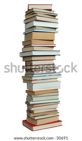 Books on white background (isolated).