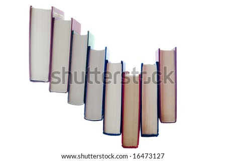books stair - stock photo