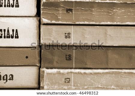 books texture background - stock photo