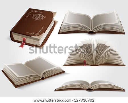 Books. Vector version also available in gallery.