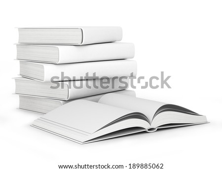 books with blank covers - stock photo