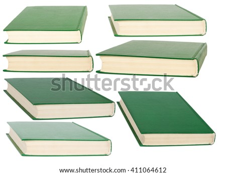 Books with blank covers. Isolated on white background - stock photo