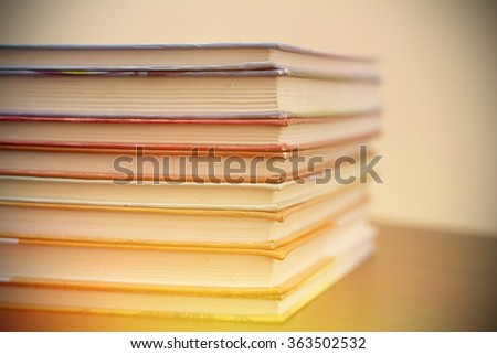 Books with soft light  - stock photo