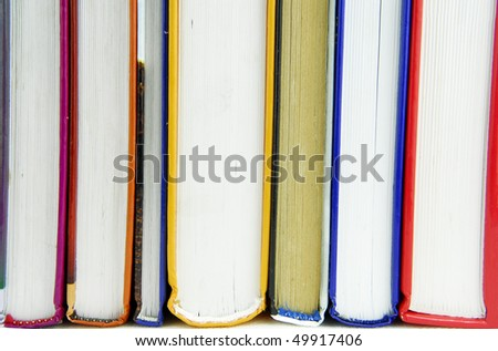 books with various covers - stock photo