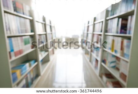 Bookshelf, knowledge ocean, abstract background. - stock photo
