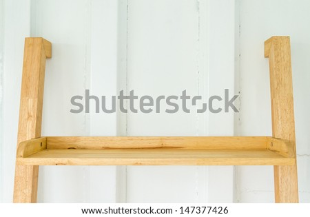 Bookshelf vintage style - stock photo