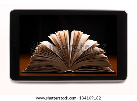 Bookstore in tablet-pc - stock photo