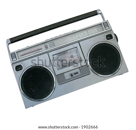 boom box (file contains Photoshop clipping path) - stock photo