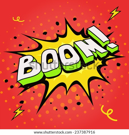 Boom. Comic book explosion  illustration. - stock photo