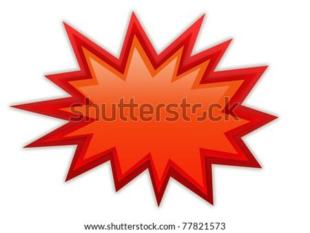 Boom splash red icon - stock photo