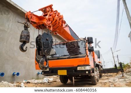 boom truck crane truck hydraulic control