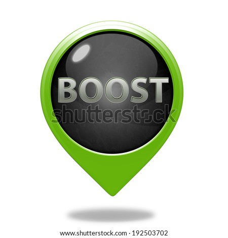 Boost pointer icon on white background