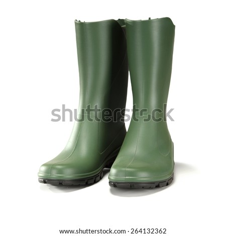 boots and white space  - stock photo