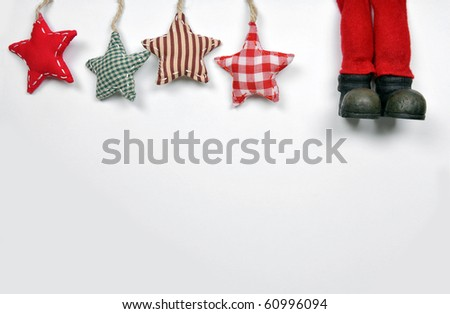 boots of Santa Claus - stock photo