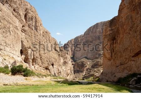 Boquillas Canyon and Rio Grande Wild and Scenic River - stock photo
