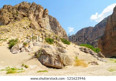 Boquillas Canyon in Big Bend National Park, along the Mexican border