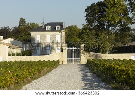Bordeaux Chateau Mouton Rotschild - stock photo