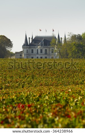 Bordeaux chateau Palmer - stock photo
