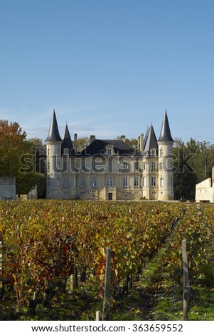 Bordeaux Chateau Pichon Longueville Baron - stock photo