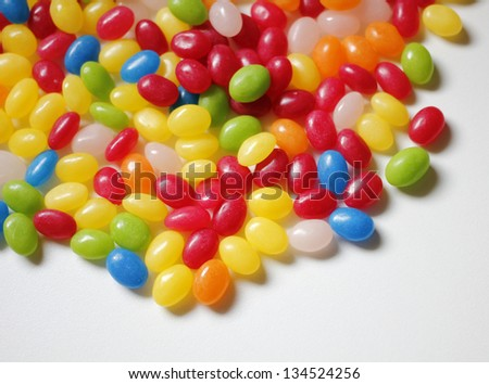 Border of colorful jelly candies - stock photo