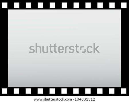 border of single film strip. - stock photo