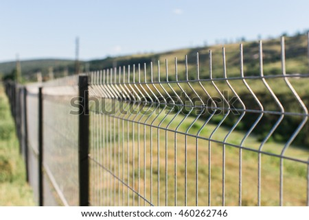 border or private zone with wire fence