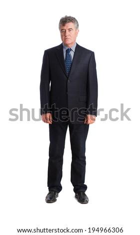 Bored businessman posing - stock photo