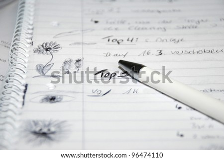 boring meeting - stock photo