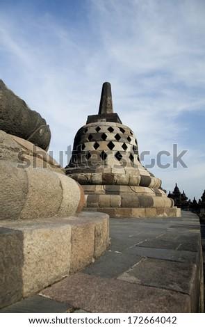 Borobudur, ancient buddhist temple,  Indonesia - stock photo
