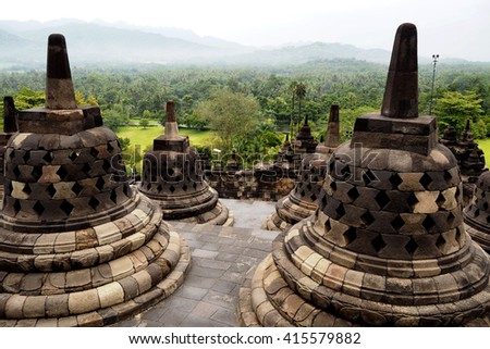 borobudur is World Heritage and famous place