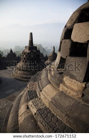 Borobudur Temple, Indonesia - stock photo