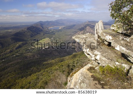 Boroka lookout in the Grampians national park in Victoria Australia - stock photo
