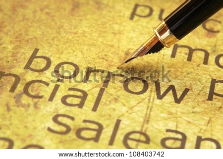 Borrow concept - stock photo
