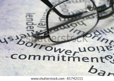 Borrowing concept - stock photo