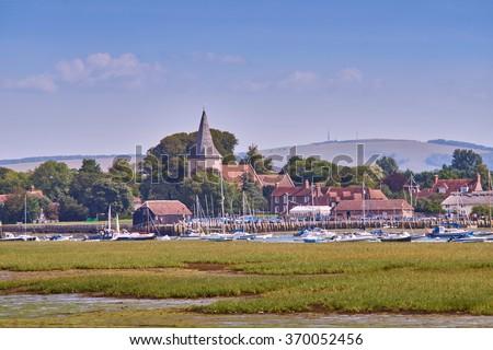 Bosham harbour in summer - stock photo