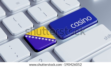 Bosnia and Herzegovina  High Resolution Casino Concept - stock photo