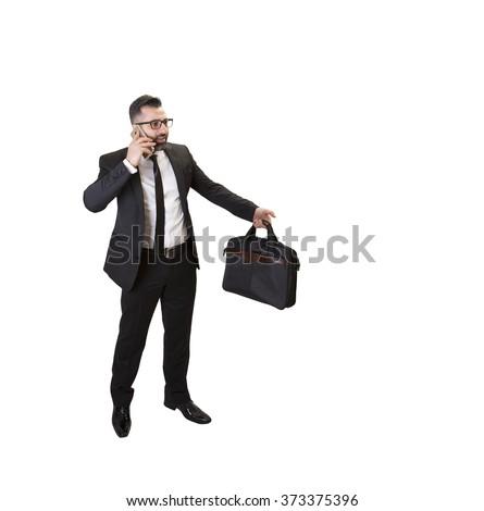 boss cal phone - stock photo