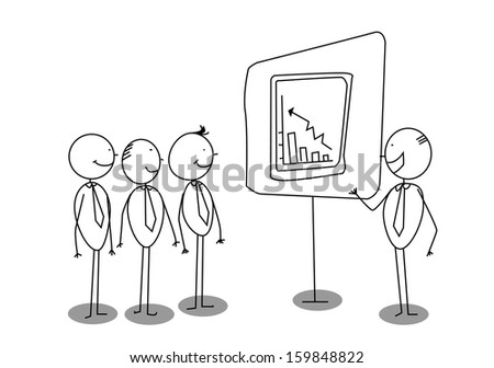boss presentation  - stock photo