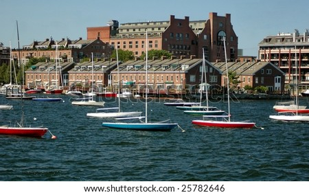 Boston Harbor-Boston Massachusetts - stock photo