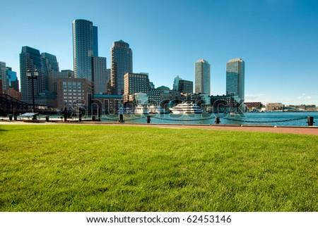 Boston Harbor in Boston, Massachusetts - USA. - stock photo