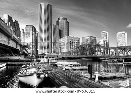 Boston in Massachusetts, USA. - stock photo