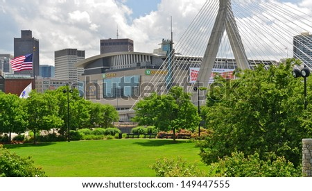 BOSTON JULY 4 View TD Garden Stock Photo (Royalty Free) 149447555 ...