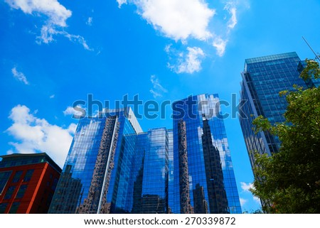 Boston Massachusetts downtown buildings cityscape in USA - stock photo