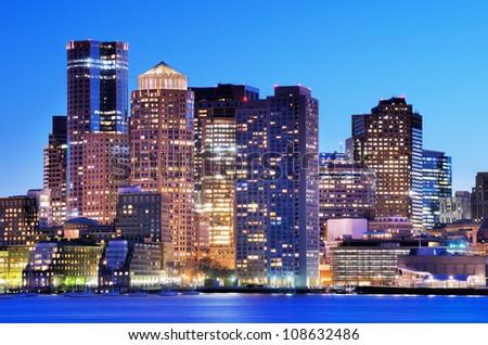 Boston, Massachusetts Financial District. - stock photo