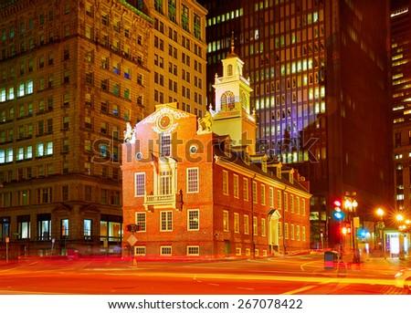 Boston Old State House in Massachusetts USA - stock photo