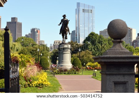 Boston Public Garden from Arlington Gate
