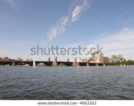 Boston's Skyline (USA) - stock photo